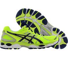 asics gel nimbus 14 mens shoes yellow/navy