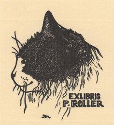Ex libris by Jocelyn Mercier (1926-2002)