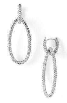Nadri Pave Oval Drop Earrings