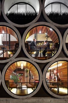 """Take a look at renewed Prahan Hotel in Melbourne, Australia. Techné Architects made a design y adding an extension that uses oversized concrete pipes. """"The Prahan Hotel is Architecture Design, Beautiful Architecture, Beautiful Buildings, Hotel Architecture, Melbourne Architecture, Australian Architecture, Installation Architecture, Sustainable Architecture, Module Architecture"""