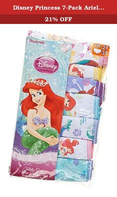 Disney Princess 7-Pack Ariel Panty Toddler Girl (4T) . Just for your little sea urchin! She'll make waves wearing these cute girls' Ariel briefs. In white/multi.