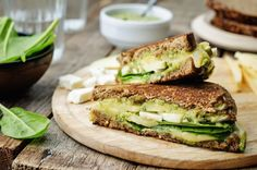 Grilled Rye & Goat Cheese Sandwich - Frutas Finas de Tancitaro, Producers of Hass Avocado Full Recipe HERE >> Goat Cheese Sandwiches, Healthy Sandwiches, Delicious Sandwiches, Gluten Free Recipes, Diet Recipes, Healthy Recipes, Chickpea Sandwich, Low Sodium Recipes, Dash Diet