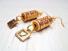 Gold #Bohemian #Earrings Tribal Style Heart Earrings https://www.etsy.com/uk/listing/190950720/gold-bohemian-earrings-tribal-stlye #etsy