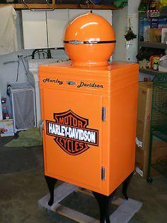 Harley Davidson Fans with Lights | ... GE General Electric Globe Top Antique Refrigerator HARLEY DAVIDSON