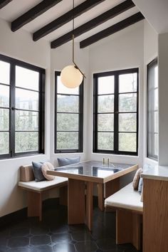 A new approach to the eat-in kitchen: The revival of the 1950s kitchen booth as seen here in the Los Feliz Hills kitchen by Tamar Barnoon.