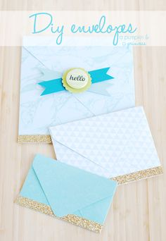The easiest way to make your own envelopes! #crafts