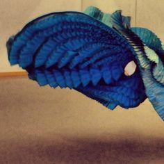 Detalle de plisados. Bata de cola. Cía de Danza Manuel Liñán.  Diseño Yaiza Pinillos