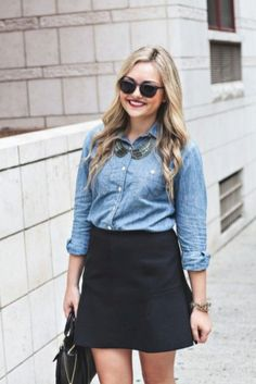 Excellent Ideas To Wear Mini Skirts 17 Flare Skirt Outfit, Black Flare Skirt, Flared Mini Skirt, Skirt Outfits, Crepe Skirts, Mini Skirts, Girly Outfits, Fall Outfits, J Crew Skirt