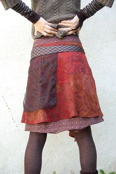 follow the link - loads of recycled skirts...check out the site - really inspirational for upcycled clothes!