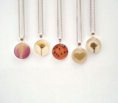 Pressed flower jewelry jewelry pinterest flower jewelry pressed flowers turned into pendants 3 etsy mozeypictures Images