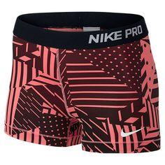 Women's Nike Pro Patchwork 3 Inch Shorts - 642572 654 | Finish Line