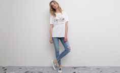 Pull&Bear - woman - t-shirts and tops - printed t-shirt - white - 05241332-V2015