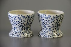 SALE - egg cups / floral egg cups / unique hostess gift / printed ceramics / egg cup set / eierbecher () by meilencollaborative