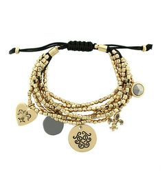 Another great find on #zulily! Gold Beaded Charm Bracelet by Jessica Simpson Collection #zulilyfinds