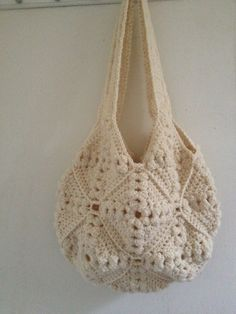 York Bag Handmade White crocheted bag purse by The Maine String on Etsy,