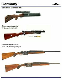 German SDK Rifle, Strumkampfgewehr, Romerwork Becker Shotgun