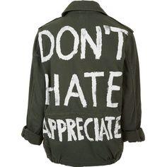 TOPSHOP 'Don't Hate Appreciate' Jacket