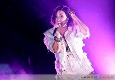 Demi Lovato at the Paul Brown Stadium in Cincinnati - July 11th
