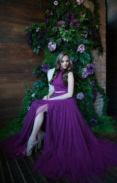 Sherri Hill 51721 Magenta Flowy 2 Piece Dress Ypsilon Dresses Prom Pageant  Homecoming Sweethearts Formal Formalwear 009fd8d83