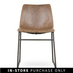 A perfect fit for your industrial inspired dining room or living space, the Origin dining chair is both comfortable and classic in design, making a strong Dining Room Chairs, Real Leather, Living Spaces, The Originals, Brown, Furniture, Design, Home Decor, South Africa