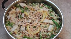 Chicken and Rice Pilaf Skillet Supper.
