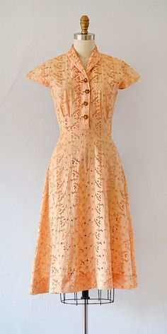vintage 1940s dress | Our Day in the Sun Dress