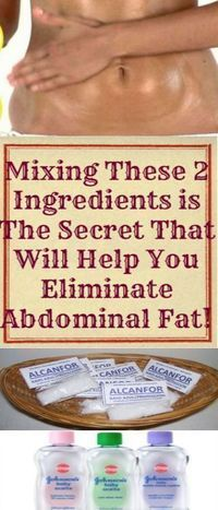 Mixing These 2 Ingredients is The Secret That Will Help You Eliminate Abdominal Fat!