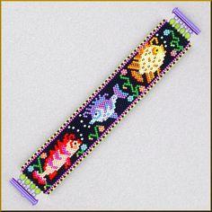 Etsy の Go Fish Fishy Peyote Bracelet Pattern by Kristyz