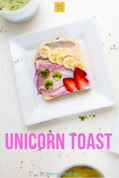 These unicorn toasts are so delicious and healthy! Healthy Meals For Kids, Kids Meals, Healthy Recipes, Delicious Recipes, Healthy Food, Easy Family Meals, Quick Easy Meals, Easy Dinner Recipes, Easy Recipes