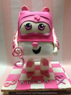 "Pink Super Wings ""Dizzy"" cake"