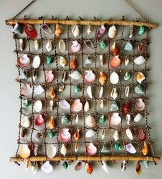 Do it yourself ideas and projects: 50 Magical DIY Ideas with Sea Shells Sea Crafts, Nature Crafts, Diy And Crafts, Arts And Crafts, Seashell Projects, Driftwood Crafts, Seashell Art, Seashell Crafts, Seashell Wind Chimes