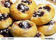 Koláčky k odpolední kávě recept - TopRecepty.cz Doughnut, Desserts, Food, Tailgate Desserts, Deserts, Essen, Postres, Meals, Dessert