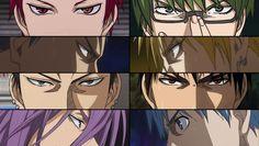 """Kuroko's Basket """"Focus"""" Wallpaper. Generation of Miracles, Shogo Haizaki & Seirin Aces. Seijuro Akashi,Shintaro Midorima, Daiki Aomine, Ryota Kise, Shogo Haizaki, Taiga Kagami, Atsu..."""