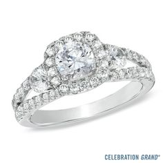 Celebration Grand® 1-5/8 CT. T.W. Diamond Engagement Ring in 14K White Gold (I/I1) - View All Rings - Zales