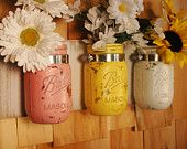 Cotton Candy mason jar trio on whitewashed recycled board