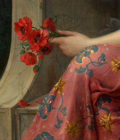 Girl with a poppy | approximately 1913, detail | Emile Vernon,