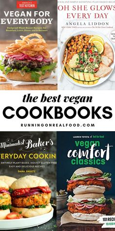 Best Vegan Coobooks This list of the best vegan cookbooks features books worth adding to your collection. These are books you'll use over and over again in your kitchen, weather you're looking for vegan comfort food or whole food plant-based recipes. Plant Based Cookbook, Plant Based Diet, Plant Based Recipes, Best Vegan Cookbooks, Vegan Books, Free Cookbooks, Vegetarian Cookbook, Cookbook Recipes, Vegetarian Recipes
