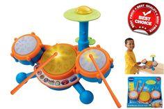 VTech KidiBeats Kids Drum Set Music Sound Instrument Toy Kit Toddler Drumstick #VTech