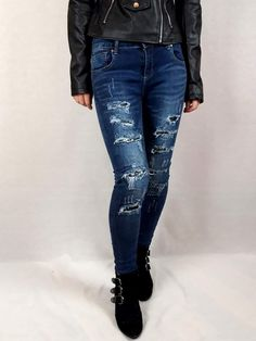 #jeans #sequins #sequined #sequinedjeans #distressed #distressedjeans #fashion #clothes #denim #clothing #onlinestore #smallbusiness Natural Stone Jewelry, Black Heart, Jacket Dress, Distressed Jeans, Fashion Clothes, Knitwear, Shop Now, Handmade Jewelry, Girly