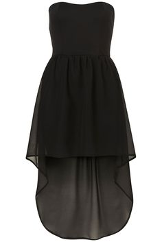 **Bandeau Chiffon Dip Hem Dress by Oh My Love - Sale - Sale & Offers - Topshop