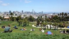 Need a break from the city hustle and bustle of the cars and buildings? Slip into the green space at Mission Dolores Park for 16-acres of green lawns, shady palm trees, and all the best people watching San Francisco has to offer.