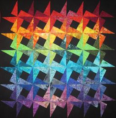 Quilt Inspiration: Look to the rainbow. Big As Texas by Martha Tshihlas.