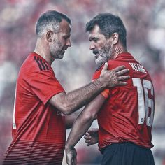 Manchester United Legends, Manchester United Players, Man Utd Squad, Roy Keane, Eric Cantona, Rugby Men, Premier League Champions, Soccer Quotes, Gareth Bale