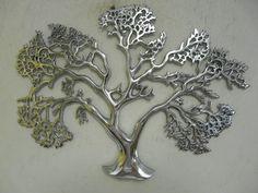 "Outdoor Metal Wall Art | Contemporary Metal Wall Art ""Aluminium Acacia Tree"" | eBay"