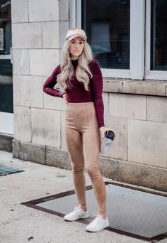 The Comfiest Damn Fall Outfit: Suede Leggings and Bodysuit | WEARFATE by Mollie Moon | A Fashion Blog | Thanks to Forever 21 for sponsoring this post