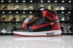 22a33c31fc8b Really Cheap OFF-WHITE x Air Jordan 1 High OG 10X Bred Black Varsity Red