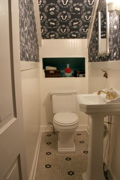 MY Old Country House Powder Room Makeover