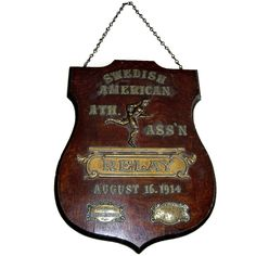 Spectacular Early 20th Century Relay Trophy Plaque. | From a unique collection of antique and modern sports at http://www.1stdibs.com/furniture/more-furniture-collectibles/sports/