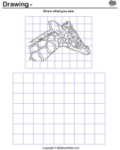 "Great intro lesson to drawing with grids ! It  can help to label letters on top (A,B,C...) and numbers on the side(1,2,3) and have them work block per block (example ""let us all draw what is in block C3"").  If students are having a hard time, have them use scrap paper to ""block"" areas of image  and look at only one section at a time when drawing."