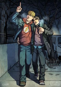 Stargazing in the Streets. hulkling. wiccan. cris-art